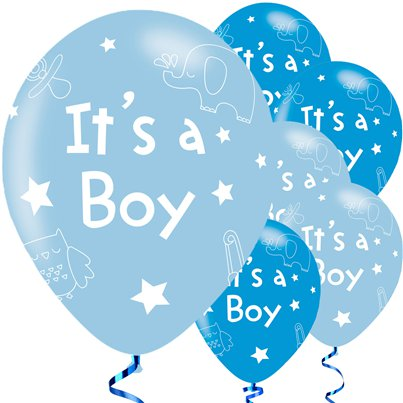 "It's A Boy Balloons - 11"" Latex"