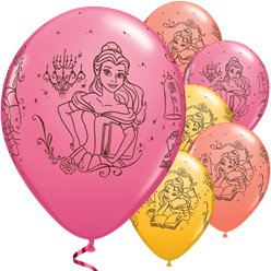 "Disney Princess Belle Balloons - 11"" Latex"
