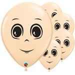 "Blush Male Face Balloons - 16"" Latex"