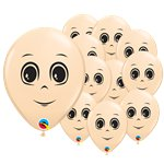 "Blush Male Face Balloons - 5"" Latex"