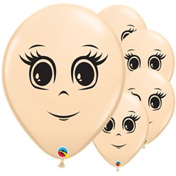 "Blush Female Face Balloons - 16"" Latex"