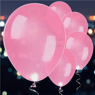 Pink Latex LED Balloons - 11""