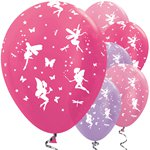 "Pink & Lilac Fairy Balloons - 12"" Latex"