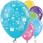 "Bright Mix Gift Balloons - 12"" Latex"