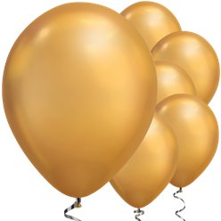 "Gold Chrome Balloons - 11"" Latex"