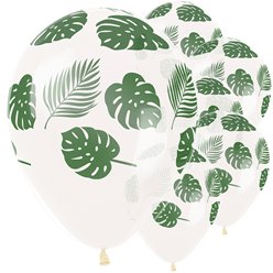 "Tropical Leaves Balloons - 12"" Latex"
