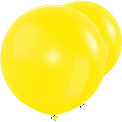 "Yellow Giant Balloon - 36"" Latex"