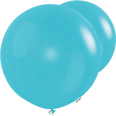"Caribbean Blue Giant Balloon - 36"" Latex"