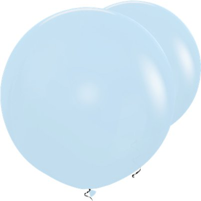 "Pastel Blue Giant Balloons - 36"" Latex"