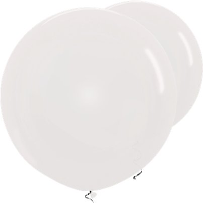 "Crystal Clear Giant Balloons - 36"" Latex"