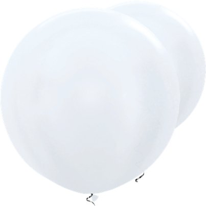 "Satin White Giant Balloons - 36"" Latex"