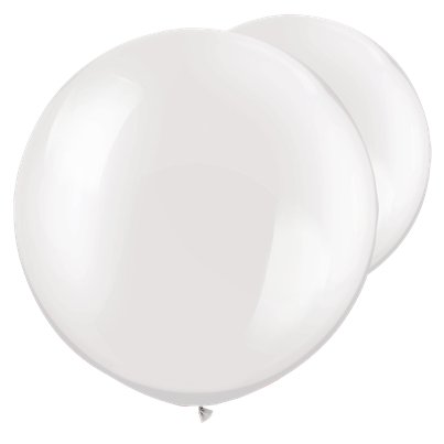 "Pearl White Giant Balloons - 30"" Latex"