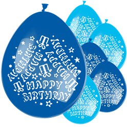 "Blue Happy Birthday Balloons - 11"" Latex"