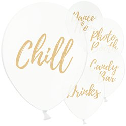 "White Wedding Sign Balloons - 12"" Latex"