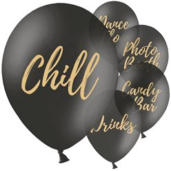 "Black Wedding Sign Balloons - 12"" Latex"
