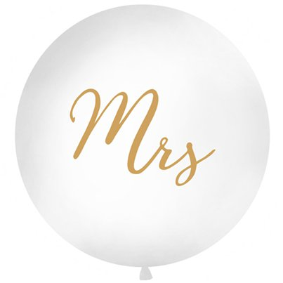 "Gold Mrs Giant Balloon - 36"" Latex"