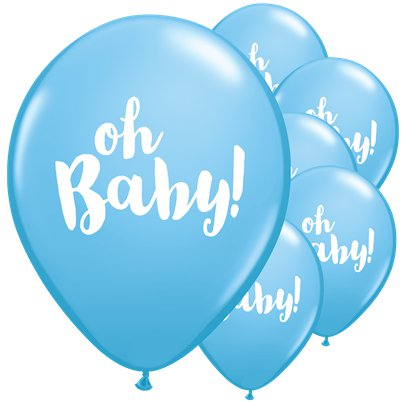 "Blue Oh Baby Balloons - 11"" Latex"