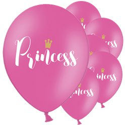 "Hot Pink Princess Balloons - 12"" Latex"