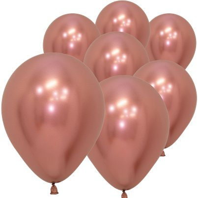 "Rose Gold Reflex Balloons - 5"" Latex"