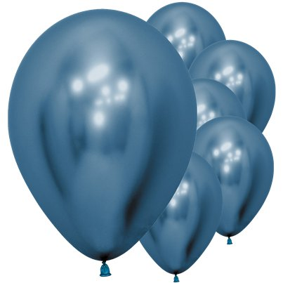 "Blue Reflex Balloons - 12"" Latex"