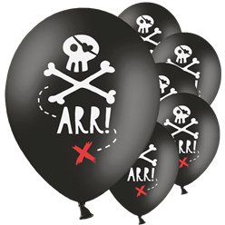 "Pirate Skull Balloons - 12"" Latex"