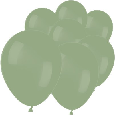 "Eucalyptus Green Balloons - 5"" Latex"