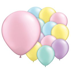 "Pastel Pearl Balloons Assortment - 5"" Latex"