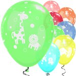 "Cute & Cuddly Jungle Animals Balloons - 11"" Latex"