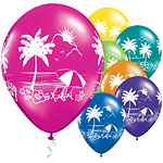 "Tropical Vistas Balloons - 11"" Latex"