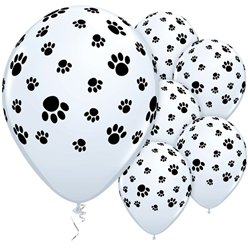 "Paw Prints Assorted Balloons - 11"" Latex"