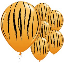 "Tiger Stripes Assorted Balloons - 11"" Latex"
