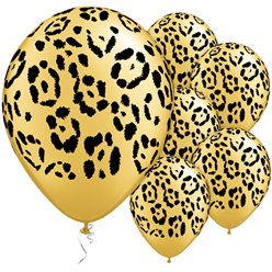 "Leopards Spots Assorted Balloons - 11"" Latex"