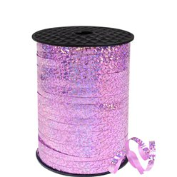 Pink Holographic Curling Balloon Ribbon - 228m