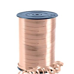 Rose Gold Metallic Curling Balloon Ribbon - 230m