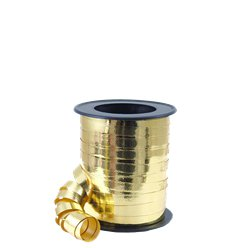 Gold Metallic Curling Balloon Ribbon - 46m