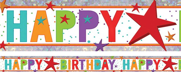 Add an Age Happy Birthday Foil Banner - 1.8m