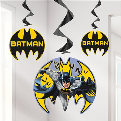 Batman Hanging Swirl Decoration - 66cm