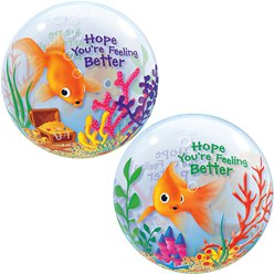 Hope You're Feeling Better Bubble Balloon - 22""