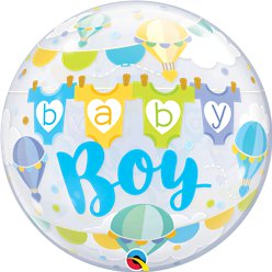 'Baby Boy' Bubble Balloon - 22""