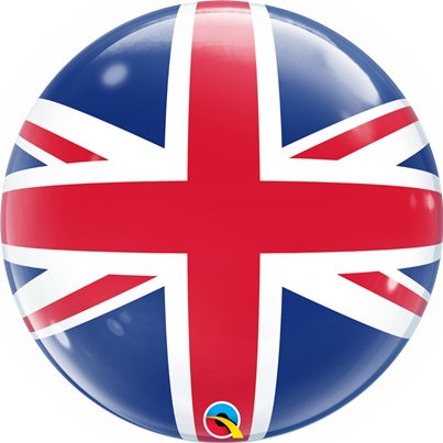 Union Jack Bubble Balloon - 22""