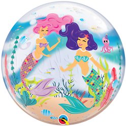 Mermaid Birthday Bubble Balloon - 22""