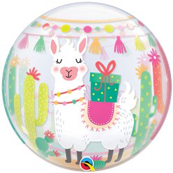 Llama Birthday Bubble Balloon - 22""