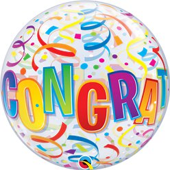 Congratulations Bubble Balloon - 22""