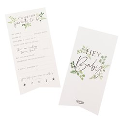 Botanical Baby Advice For The Parents Cards