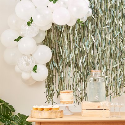 Botanical Mini White Foliage Balloon Arch - 45 Balloons