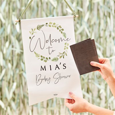 Botanical Baby Customisable Welcome Sign