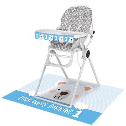 Birthday Bear Highchair Decorating Kit