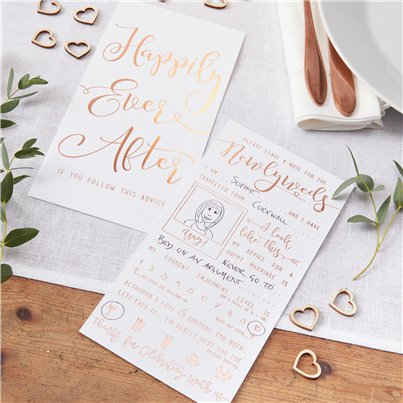 Beautiful Botanics Advice For The Newlyweds Cards - 20cm