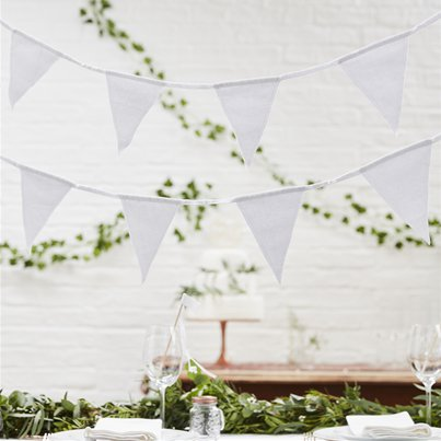Beautiful Botanics White Fabric Bunting