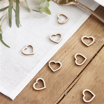 Beautiful Botanics Wooden Heart Shape Confetti